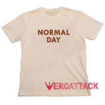 Normal Day Cream T Shirt Size S,M,L,XL,2XL,3XL