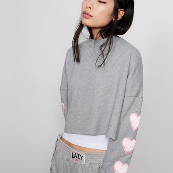 Lazy Oaf Puffy Hearts Sweatshirt