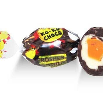 Dark Ko Ko Choco Candy - Orange, Dark - Roshen - Ukraine - 3 oz