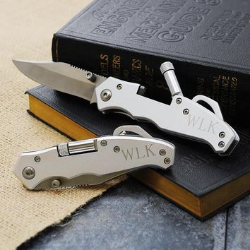 Personalized Pocket Knife w/ LED Light