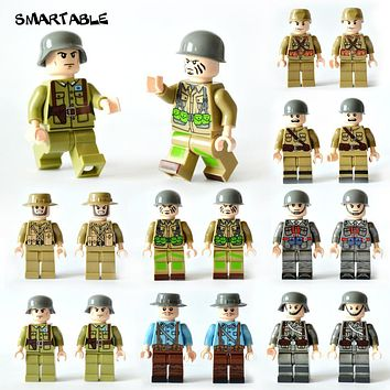 Smartable 16pcs/set Building Blocks Figures brick toys Compatible Legoing Figures military soldier for Christmas Gift