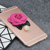 New Flower Clear Soft Phone Case Cover for iphone 6 6s Plus  and other Model Phone Case