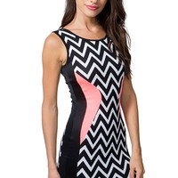 Zig Zag Pop Contour Dress