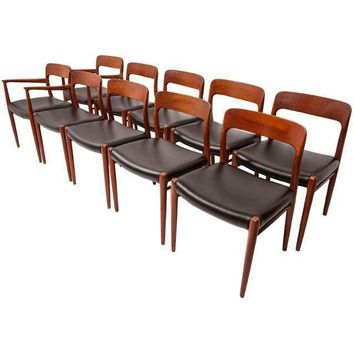 Pre-owned Niels Moller Teak Dining Chairs - Set of 10