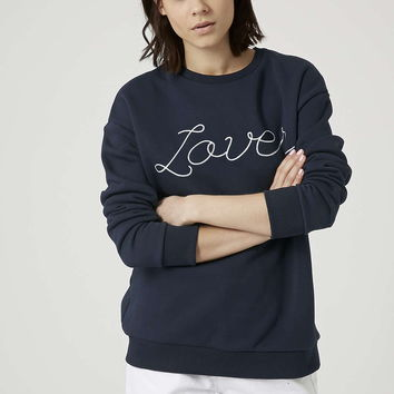 PETITE Lover Sweatshirt By Tee and Cake - Topshop