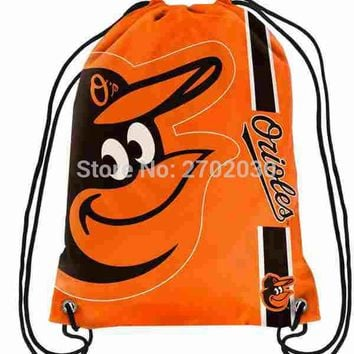 Baltimore Orioles Drawstring Bags Men Sports Backpack Baseball Team Digital Printing Pouch Customize Bags 35*45cm Sports US