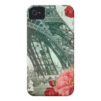 Vintage Eiffel Tower Case-mate Iphone 4 Cases from Zazzle.com