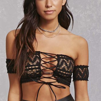 Kikiriki Semi-Sheer Mesh Top