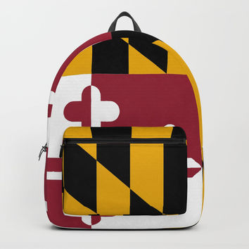 flag of maryland-america,usa,Old Line State,marylander, America in Miniature,Baltimore,Columbia Backpacks by oldking