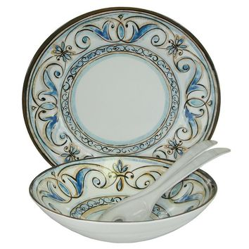 Fleur de Lis - 4 Piece Serving Set