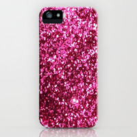 Pink Glitter Gifts iPhone Case by productoslocos | Society6