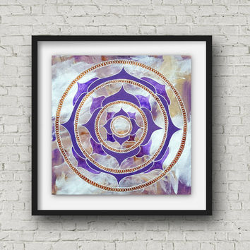 Mandala - Mandala Painting - Fall Decor - Purple Mandala - Home Decor - Digital Print - Meditation Altar - Wall Art  - Digital Download