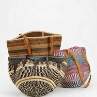 Urban Renewal Vintage Straw Market Bag- Assorted One Size- Assorted One