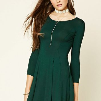Lace-Up Fit and Flare Dress