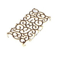 BestDealUSA Fashion Golden Hollowed-out Flower Decorative Pattern Case for Apple iPhone 4/4S