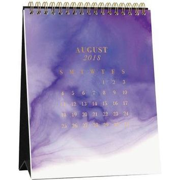 Watercolor  Easel Desk Calendar, Contemporary Art by Waste Not Paper