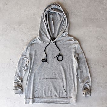 Michelle by Comune - 'cove' french terry hoodie - heather grey