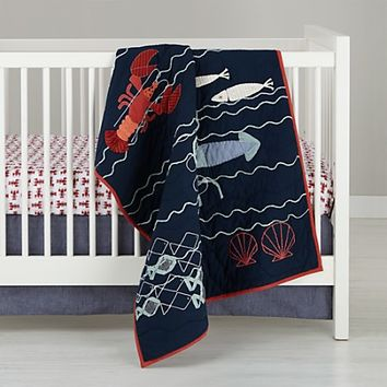Sea Creatures Crib Bedding in Crib Bedding Collections | The Land of Nod
