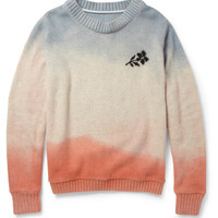 The Elder Statesman Hand-Dyed Flower Cashmere Sweater | MR PORTER