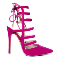 ABBEY PUMP - FUCHSIA