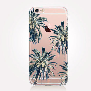 Transparent Palm Tree iPhone Case - Transparent Case - Clear Case - Transparent iPhone 6 - Transparent iPhone 5 - Transparent iPhone 4