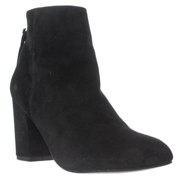 Steve Madden Cynthia Rear Zip Booties, Black Suede, 6 US
