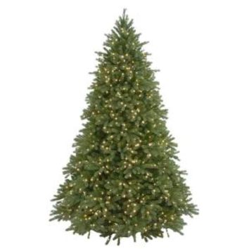 6.5 ft. Feel-Real Jersey Fraser Fir Artificial Christmas Tree with 800 Clear Lights PEJF4-300-65 at The Home Depot - Mobile