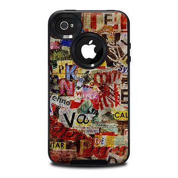 The Torn Newspaper Letter Collage V2 Skin for the iPhone 4-4s OtterBox Commuter Case