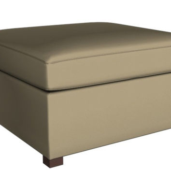 Square Leather Color Customizable Ottoman Eclipse Earth Designs by Lazar