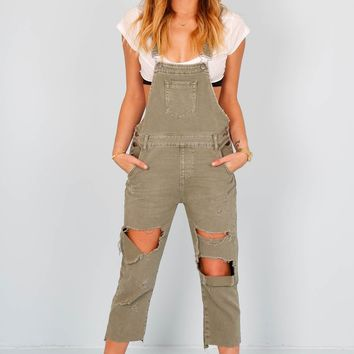 ONE TEASPOON | Hooligan Overalls - Super Khaki