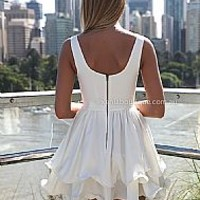 ELIXIR FRILL DRESS , DRESSES, TOPS, BOTTOMS, JACKETS & JUMPERS, ACCESSORIES, $10 SPRING SALE, NEW ARRIVALS, PLAYSUIT, GIFT VOUCHER, $30 AND UNDER SALE, SWIMWEAR, SLEEP WEAR,,White Australia, Queensland, Brisbane