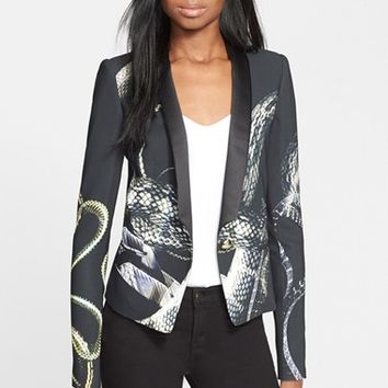 Women's Just Cavalli 'Eve's Temptation' Snake Print Jersey Jacket,