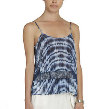 Pleated Block Tank in Black/Blue/Orange - BCBGeneration