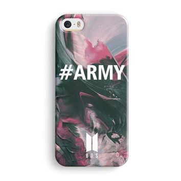 Grunge Art Army Bts Watercolor iPhone 5|5S|SE Case | Naylacase