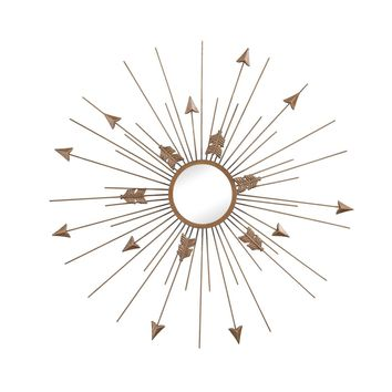 Thrax Wall Mirror In Antique Gold Antique Gold