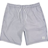 River Island MensNavy thin stripe mid length swim trunks