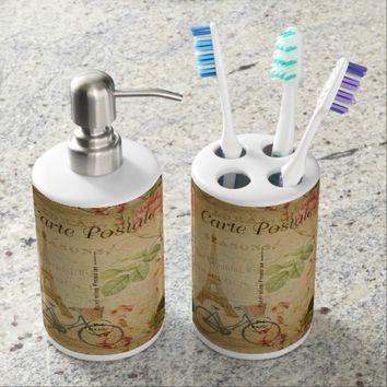 French Postcard Bath Set