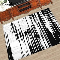Autumn Fall welcome door mat doormat Zeegle Black And White Print Carpets Anti-slip Floor Mat Outdoor Rugs Nordic Style Front s Absorbent Soft  AT_76_7