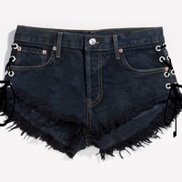 Lace Up Knightcat Babe Cut Off Shorts