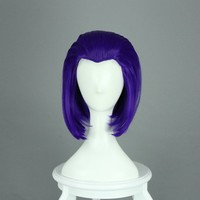 Cying Lin® Raven From Teen Titans Medium Long 35cm Purple Anime Cosplay Hair Gull Wig+wig Cap