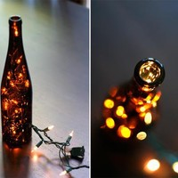 DIY Wine Bottle Lantern | Shelterness