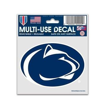 "Licensed Penn State Nittany Lions NCAA 3"" x 4"" Car Window Cling Decal PSU Wincraft 912961 KO_19_1"