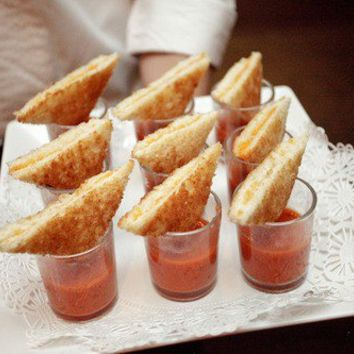 Best of Pinterest / mini grilled cheese sandwiches with tomato soup shots