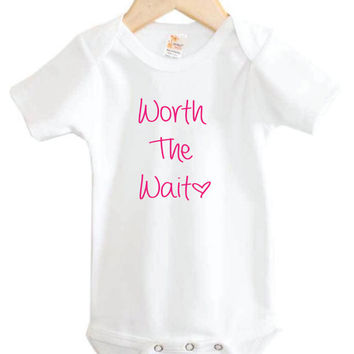 Worth the Wait Onesuit // Newborn Onesuit // New Baby // Newborn clothing