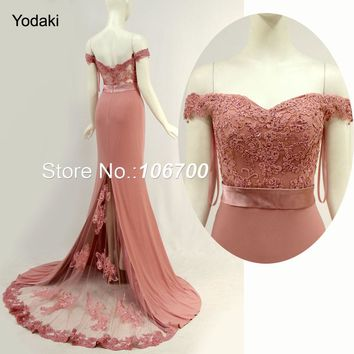 Amazing Real Photos Lace Appliques Mermaid Bridesmaid Dresses Sweetheart Off the Shoulder With Sashes Bridal Prom Gowns
