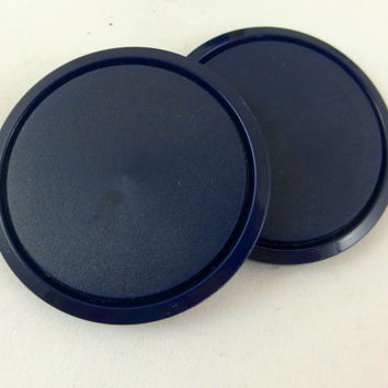 Extra Large Navy Blue Buttons, Large Dark Blue Button, 1-9/16 Navy Coat Buttons,