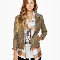BB Dakota by Jack Shelia Brown Vegan Leather Jacket
