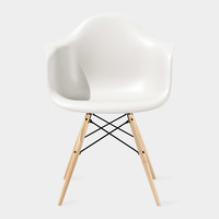 Eames® Molded Plastic Armchair with Dowel-Leg Base (DAW) | MoMA