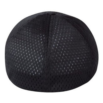 Skull USA Flag Embroidery on a Flexfit Athletic Mesh - Structured Hat, One Size, Black (One Size, Black)
