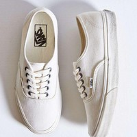 Vans White/Black Classic Canvas Sneakers